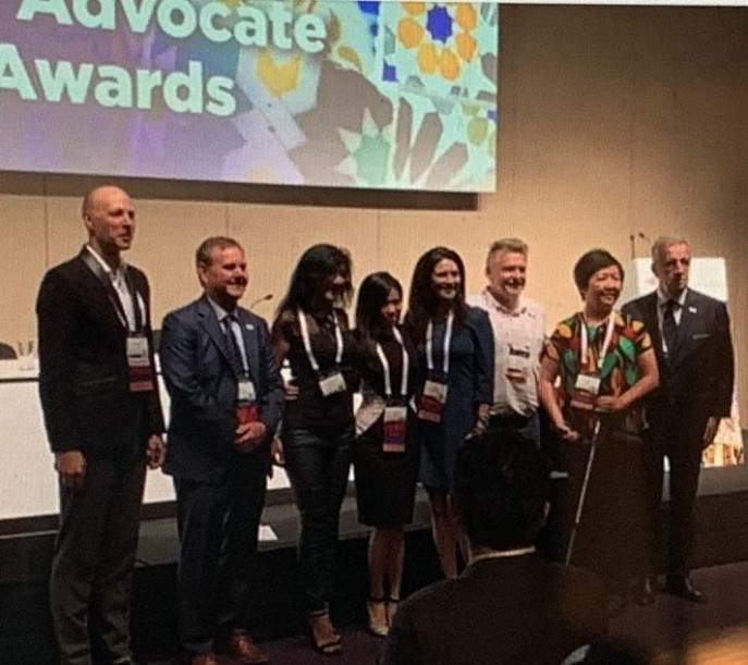 Lung Cancer Advcate Award at IASLC/WCLC2019